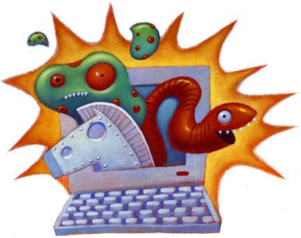 ماذا تعرف عن أنواع البرامجيات و تراخيصها Virus-worm1